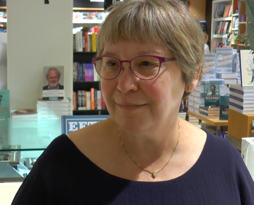 Forfatteren Susanne Meelbye ved bogsignering i Salling.